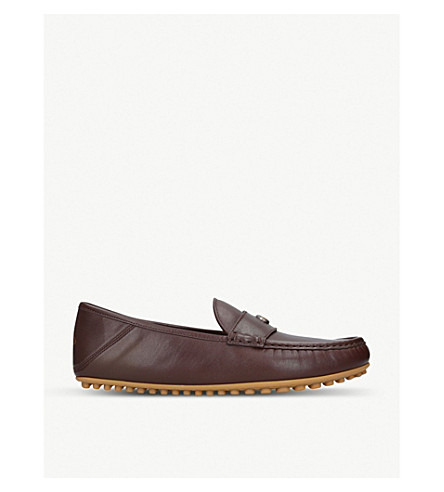 80bce165c96 GUCCI New Kanye leather driving shoes (Dark+brown