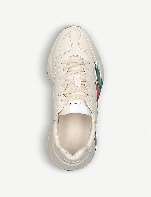 GUCCI Rython leather running trainers