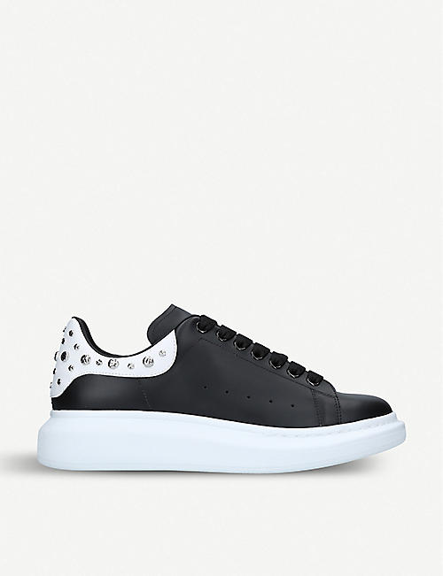 ALEXANDER MCQUEEN: Show studded leather trainers