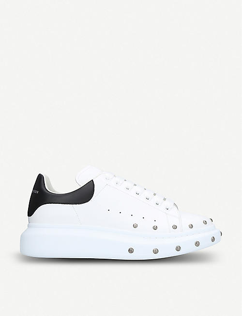 brand new 024c3 c1fdb ALEXANDER MCQUEEN Stud-embellishment leather trainers