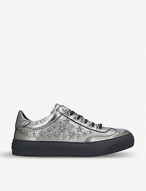 d881356e118 JIMMY CHOO Ace star-embossed nubuck-leather trainers
