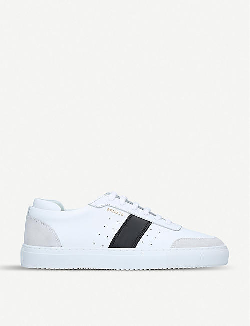 AXEL ARIGATO: Dunk suede-trimmed leather trainers
