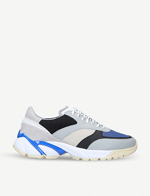 AXEL ARIGATO Tech Runner leather and mesh trainers