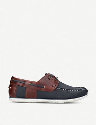 BARBOUR: Capstan oiled leather boat shoes