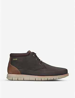 BARBOUR: Nelson panelled leather boots