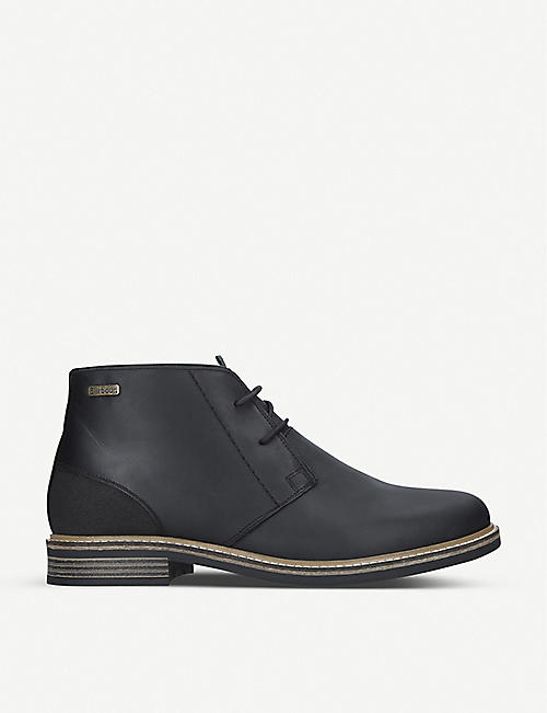 BARBOUR Redhead leather chukka boots