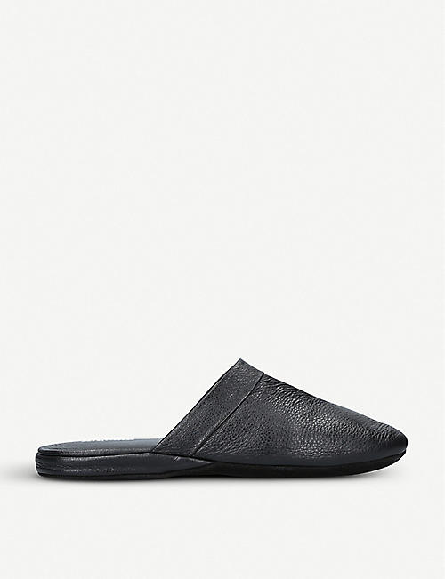 STEMAR Heathrow leather travel slippers