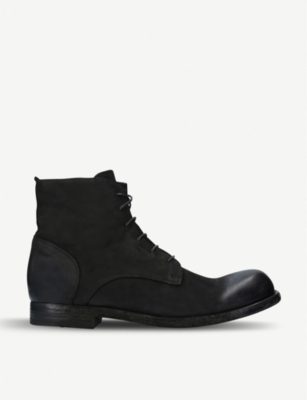 OFFICINE CREATIVE Bubble leather ankle boots