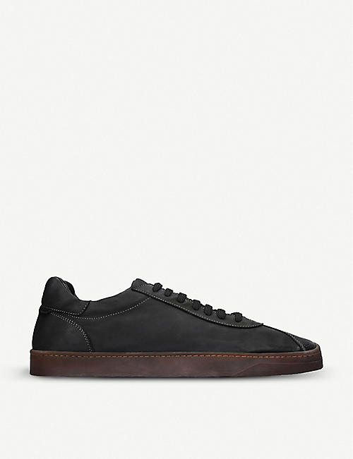 OFFICINE CREATIVE: Karma leather trainers