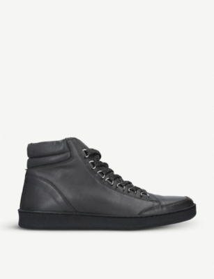 KURT GEIGER LONDON Brighton leather high-top trainers
