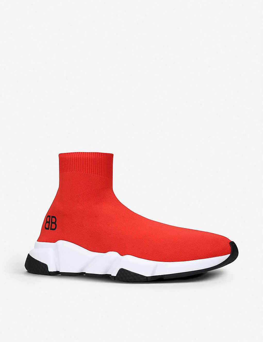 138afcc4da1d ... Capsule BB Speed stretch-knit trainers - Red white black ...