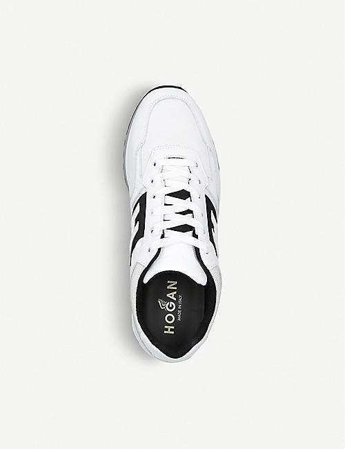 HOGAN 321 leather and mesh trainers
