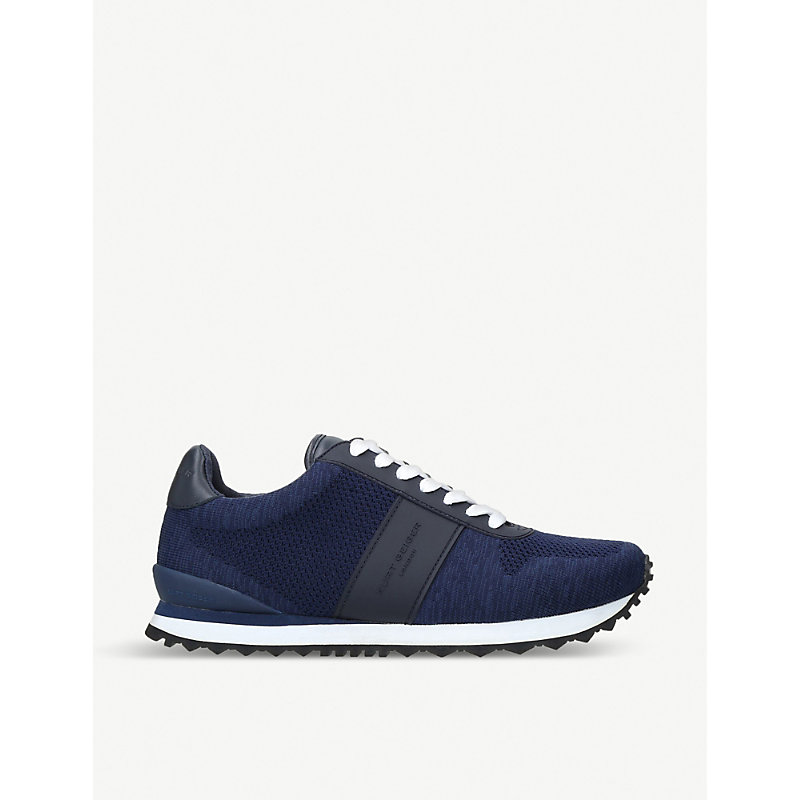 KURT GEIGER LONDON Lamont Knitted Trainers in Navy