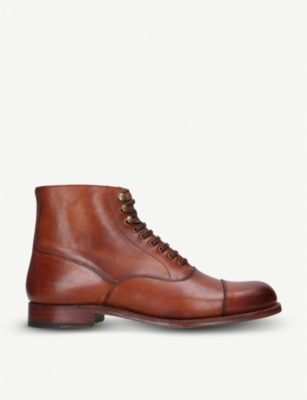GRENSON Leander leather oxford boots