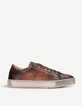 SANTONI: Gloria leather trainers