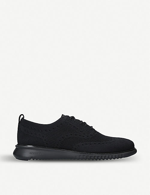 COLE HAAN: 2.ZERØGRAND Oxford stretch-knit trainers