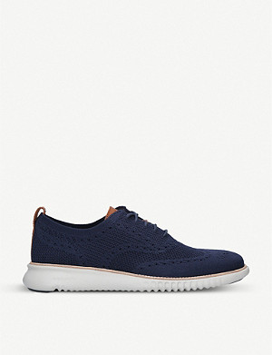 COLE HAAN ZERØGRAND Stitchlite 2.0 stretch-knit oxford shoes