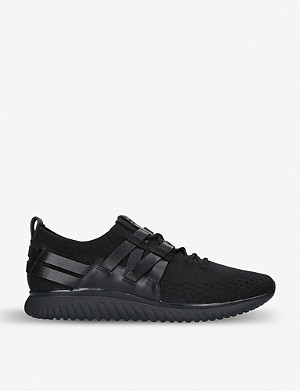 COLE HAAN Grand Motion Runner knit and leather trainers