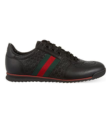 aec5f508c82 GUCCI SL73 leather trainers (Black