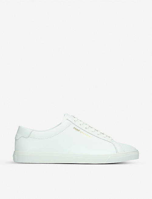 SAINT LAURENT: Andy leather trainers