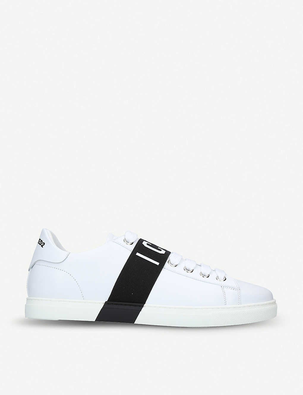 8c977f921ab Icon leather trainers - Whiteblk ...