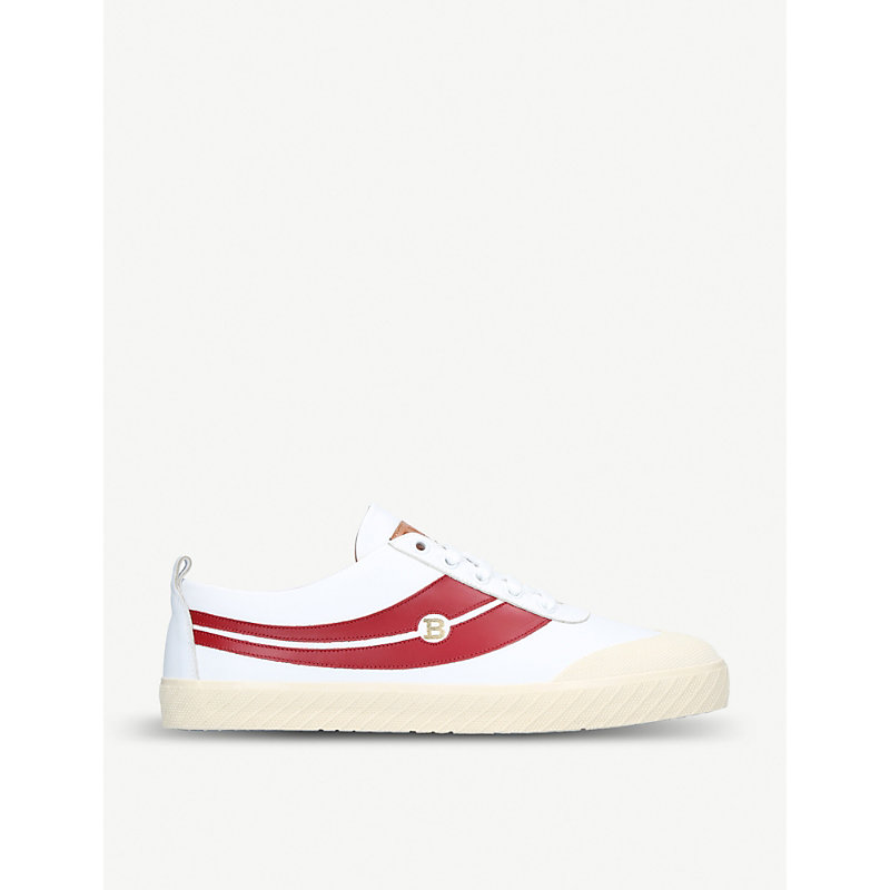 BALLY Super Smash Leather Trainers in White