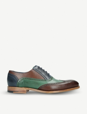 BARKER Valiant tri-tone leather oxford shoes