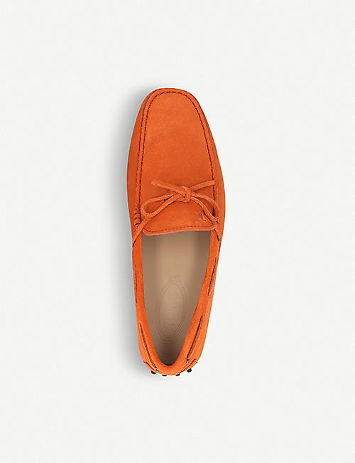 TODS 122 suede driver shoes