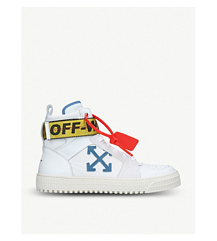 ... OFF-WHITE C O VIRGIL ABLOH Industrial Belt leather high-top trainers (.  PreviousNext ace34641b350