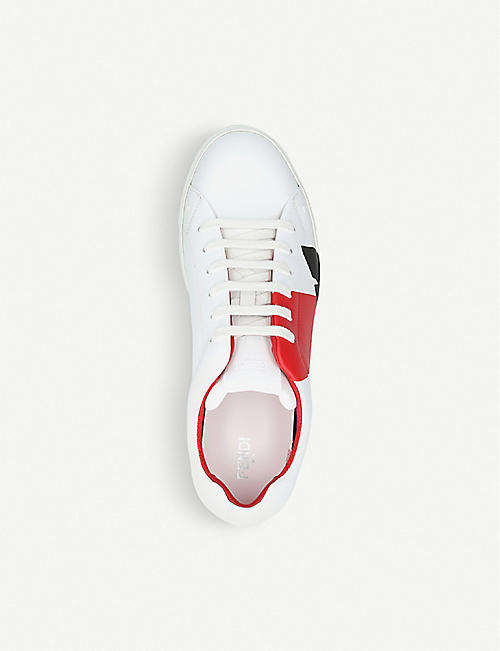 FENDI Bugs leather trainers