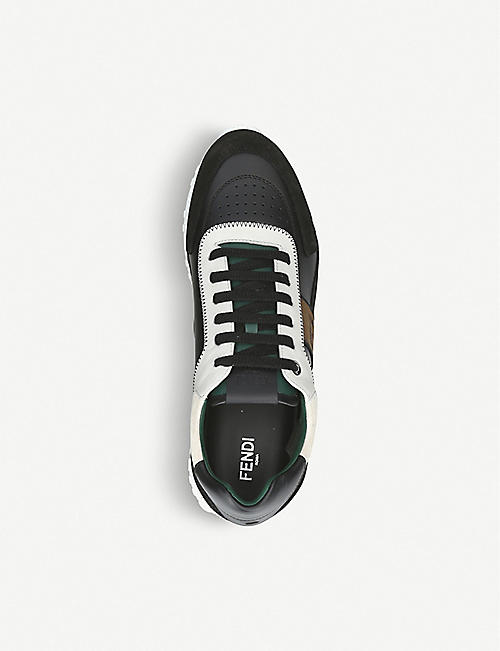 FENDI FF leather trainers