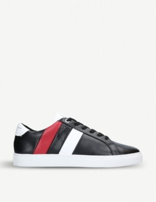 KURT GEIGER LONDON Donnie striped leather trainers