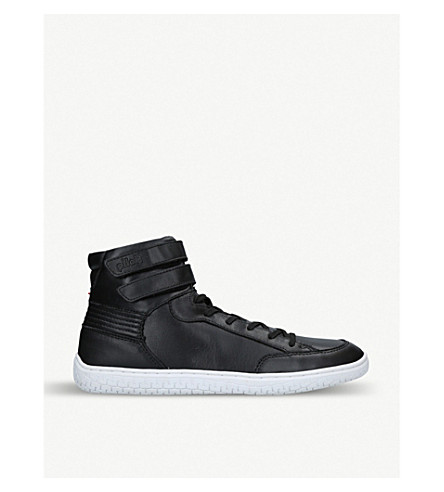 264fb3590420 PILOTI Superstrada leather high-top trainers (Black