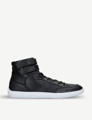 PILOTI Superstrada leather high-top trainers