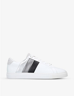 KURT GEIGER LONDON: Donnie Rainbow low-top leather trainers