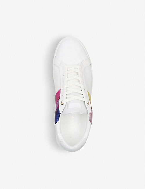 KURT GEIGER LONDON Donnie Rainbow leather trainers