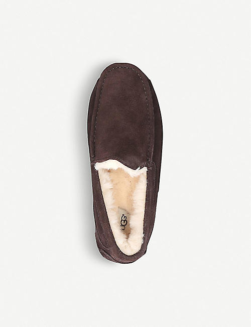 b6b24220a75c5 UGG Ascot suede and fleece slippers