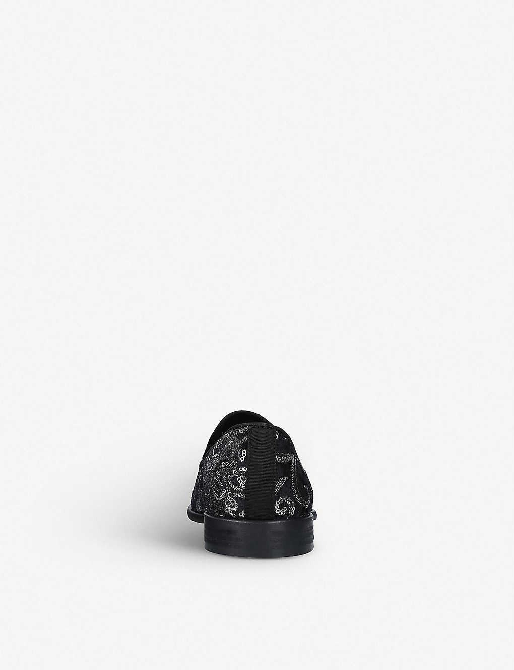 67c4a7fc6 KURT GEIGER LONDON - Albert sequin-embellished velvet loafers ...