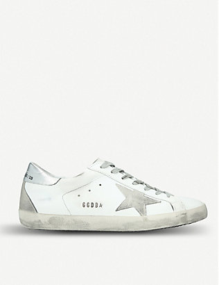 GOLDEN GOOSE: Superstar leather trainers