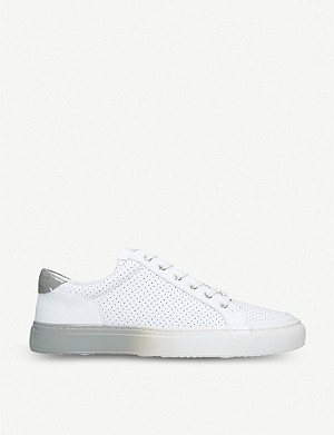 KURT GEIGER LONDON Southgate perforated leather trainers