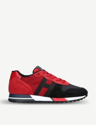 HOGAN Campus H383 leather and canvas trainers