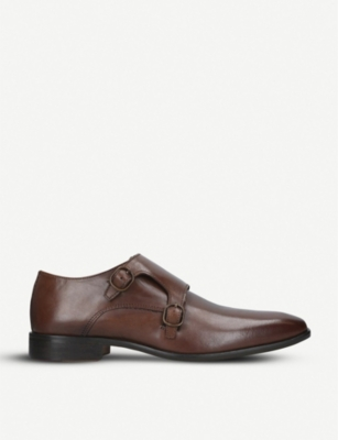 KURT GEIGER LONDON Bairstow leather double monk strap shoes