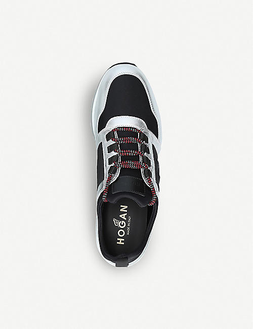 HOGAN H321 metallic leather trainers