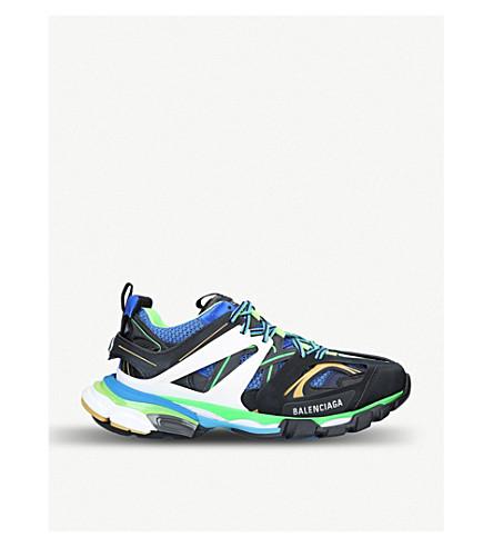 02ff3ef6eb7c6 BALENCIAGA Track nylon and mesh trainers (Black comb