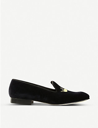 CHURCH: Velvet crown loafers