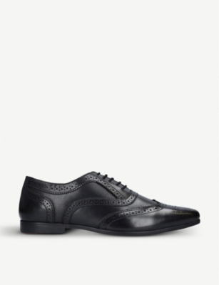 KURT GEIGER LONDON Florence brogue-style leather oxford shoes