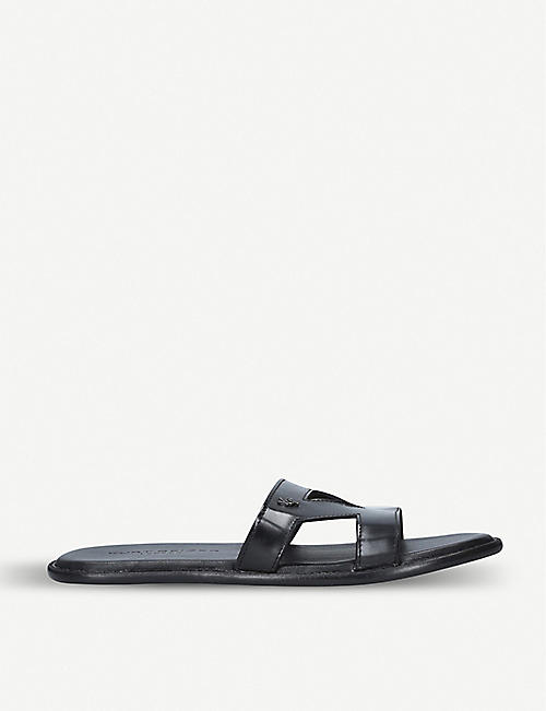 KURT GEIGER LONDON Jonny leather pool sliders