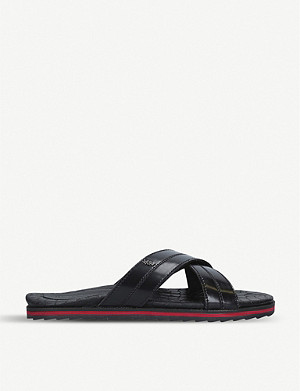 KURT GEIGER LONDON Ricky leather pool sliders