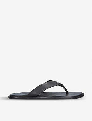 KURT GEIGER LONDON Ronnie leather flip flops