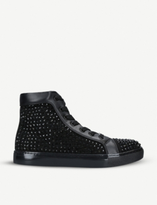 KURT GEIGER LONDON Joel sequinned high-top trainers